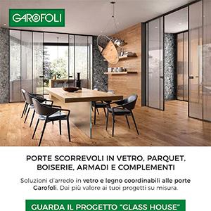 Porte scorrevoli in vetro, parquet, boiserie, armadi e complementi Garofoli