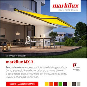 Tenda da sole personalizzabile con led integrato Markilux MX-3