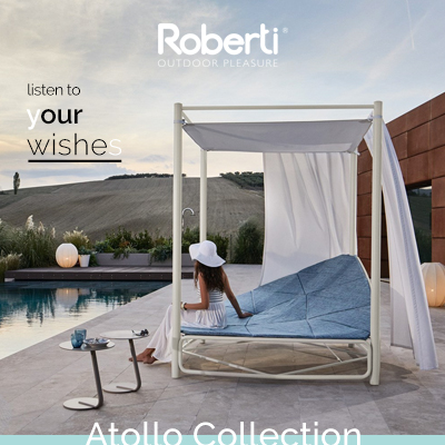 Roberti Rattan outdoor pleasure: Atollo Collection