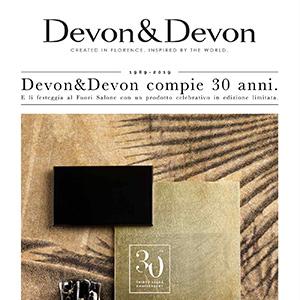 Devon&Devon compie 30 anni e festeggia con un prodotto celebrativo