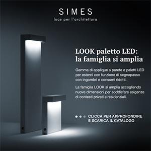 Simes: il nuovo micro paletto Led amplia la gamma Look