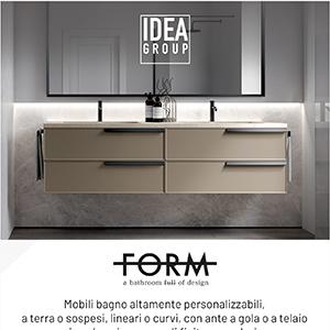 Mobili bagno super personalizzabili: Form by Ideagroup