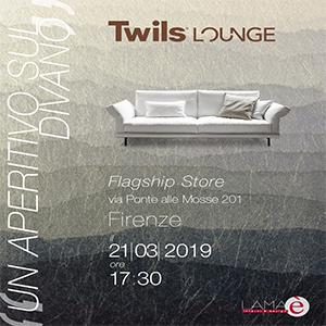 Firenze, Twils Lounge e LAMA design vi invitano per un aperitivo sul divano