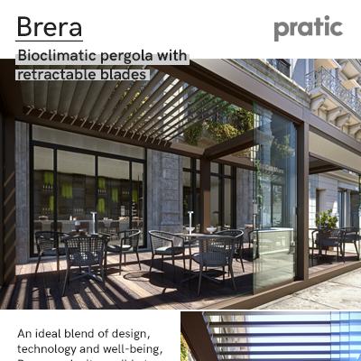 Pergole bioclimatiche con lame retraibili: Brera by Pratic