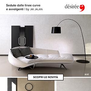 Sedute dalle linee curve e avvolgenti by Désirée Divani