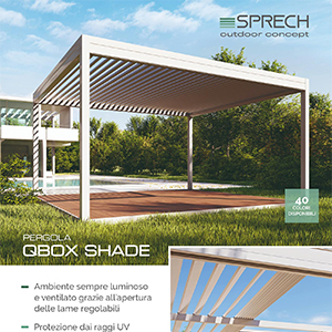 Pergola bioclimatica Qbox Shade: scopri i vantaggi del tetto orientabile