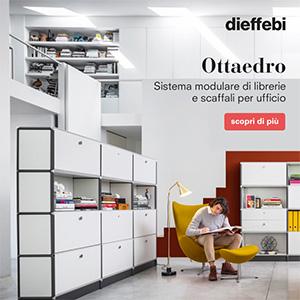 Librerie e scaffali modulari per l'ufficio Ottaedro by Dieffebi