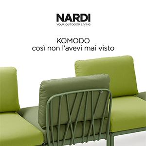 Komodo, sistema modulare di sedute outdoor by Nardi