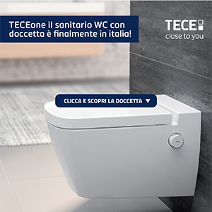 TECEone, il WC-bidet che non necessita di elettricita`