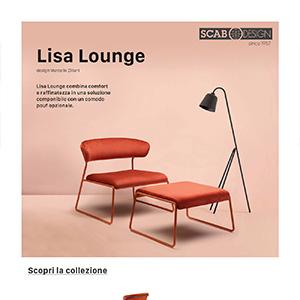 Sedute Lisa by Scab Design: nuove geometrie nelle soluzioni d'arredo