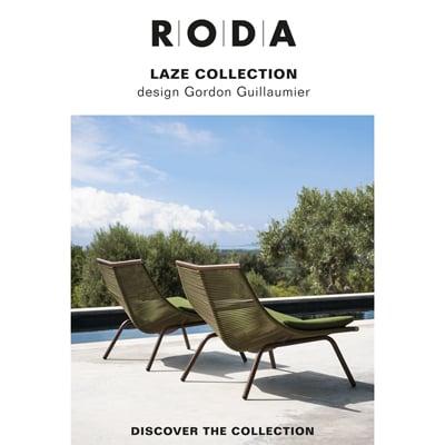 Sedute outdoor RODA collezione Laze: scegli il tuo colore