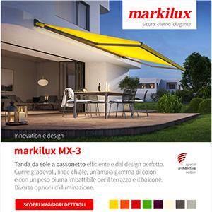 Tenda da sole personalizzabile con led integrato Markilux MX-3