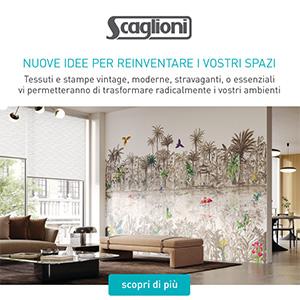 Tessuti murali e stampe personalizzate su tende a rullo Scaglioni