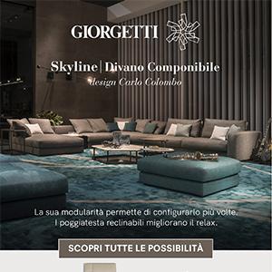 Divano componibile Skyline by Giorgetti: scopri tutte le possibilità