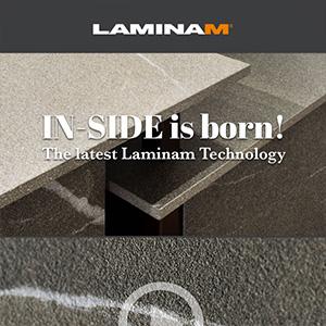 Laminam IN-SIDE: lastre ceramiche con continuità materica tra massa, superficie e bordo