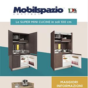 Cucine monoblocco e arredi Mobilspazio per hotel e residence
