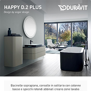 Duravit rinnova la serie bagno Happy D.2: nuove forme, colori e finiture
