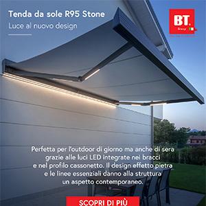 Tenda da sole effetto pietra con LED integrati by BT Group