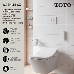 WC autopulente a seduta riscaldata e doccetta con acqua calda
