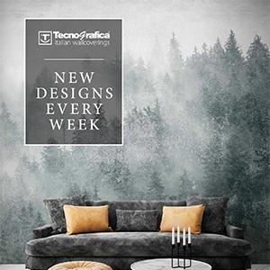 Nuove carte da parati decorative Tecnografica: cavalca l'onda del design