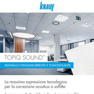 Pannello fonoassorbente e fonoisolante Knauf Topiq Sound