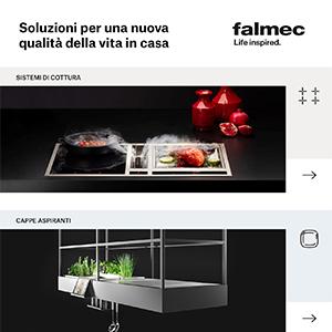 Falmec nuovo catalogo 2019: piani cottura, cappe e trattamento aria