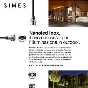 SIMES Nanoled Inox: il micro incasso LED outdoor
