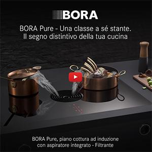 Piano cottura ad induzione con aspiratore integrato Bora Pure