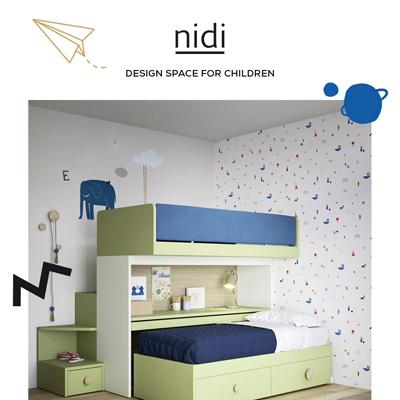 Letto a castello scorrevole Skid by Nidi