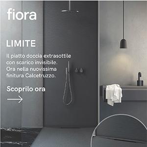 Piatto doccia extrasottile con scarico invisibile Limite by Fiora