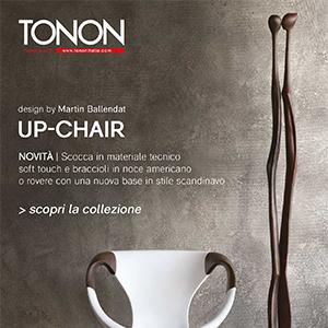 Up-chair by Tonon: nuova seduta in legno dallo stile scandinavo