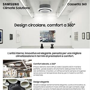 Climatizzazione Samsung, unità interna Cassetta 360