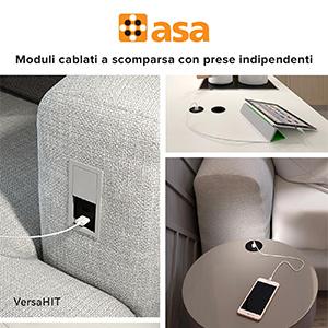 Sistemi di cablaggio a scomparsa compatti e versatili by Asa Plastici