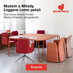Sedute Madame e Milady, design Radice Orlandini designstudio per Baleri Italia