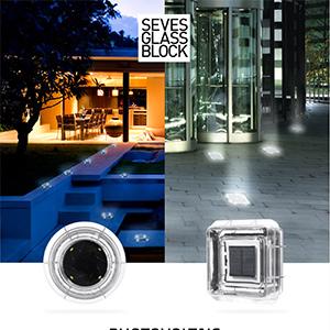Mattoni di vetro LED pedonabili ad energia solare by Seves Glassblock