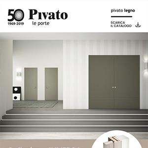 Porte in legno Pivato collezione Inversa: cambia il concetto di apertura
