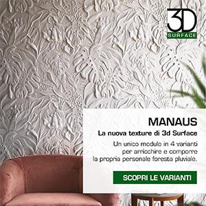 Rivestimenti decorativi tridimensionali 3D surface: scopri Manaus