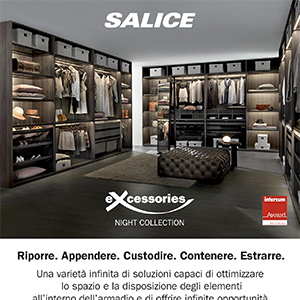 Soluzioni per la zona notte: Excessories – Night Collection by Salice