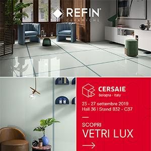 Grès porcellanato in finitura lucida: Vetri Lux by Ceramiche Refin