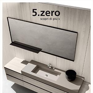Collezione bagno 5.zero: coordinabile, personalizzabile, materica