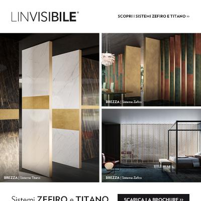 LINVISIBILE presenta i nuovi Sistemi divisori Zefiro e Titano