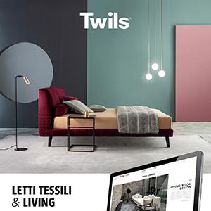 Twils, letti tessili e living: visita il nuovo sito
