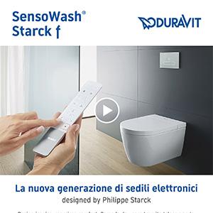Sedili WC elettronici Duravit SensoWash Starck f: design iconico, massimo comfort