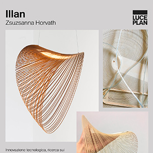 Lampada LED eco-sostenibile in legno certificato: Illan by Luceplan