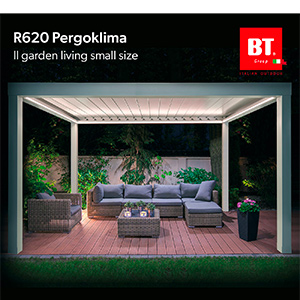 Pergola bioclimatica per l'outdoor small size by BT Group
