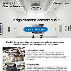 Climatizzatori Samsung: design circolare e raffrescamento omogeneo