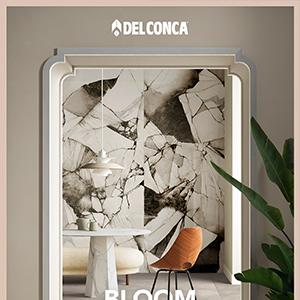 Ceramica del Conca Bloom: acquerello in un mix di marmi