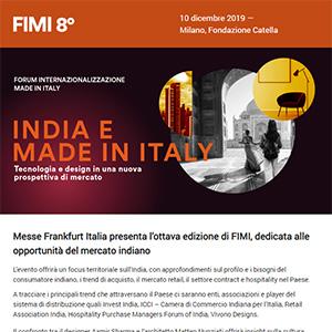 FIMI 2019: India, nuove prospettive per tecnologia e design - partecipa gratuitamente