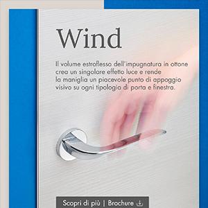 Maniglia per porte e finestre dal gusto contemporaneo: Wind by Linea Cali'