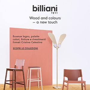 Sedute artigianali Billiani: nuovo mood firmato Cristina Celestino